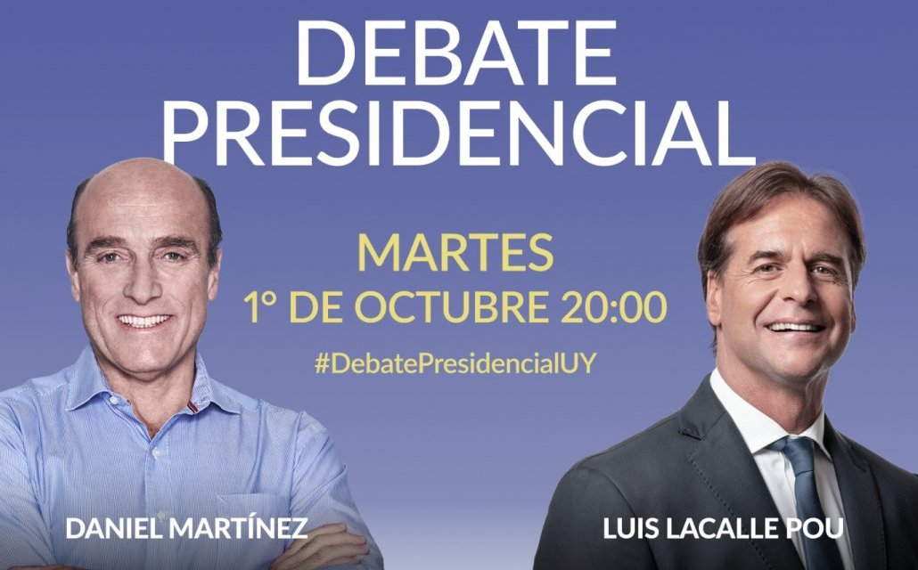 DESDE LAS 20 HORAS SE LLEVARÁ ADELANTE EL DEBATE PRESIDENCIAL ENTRE MARTINEZ Y LACALLE POU