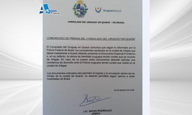 SEGÚN INFORMA CANCILLERÍA SE PODRÁ CRUZAR HACIA QUARAI DE TRES MANERAS: