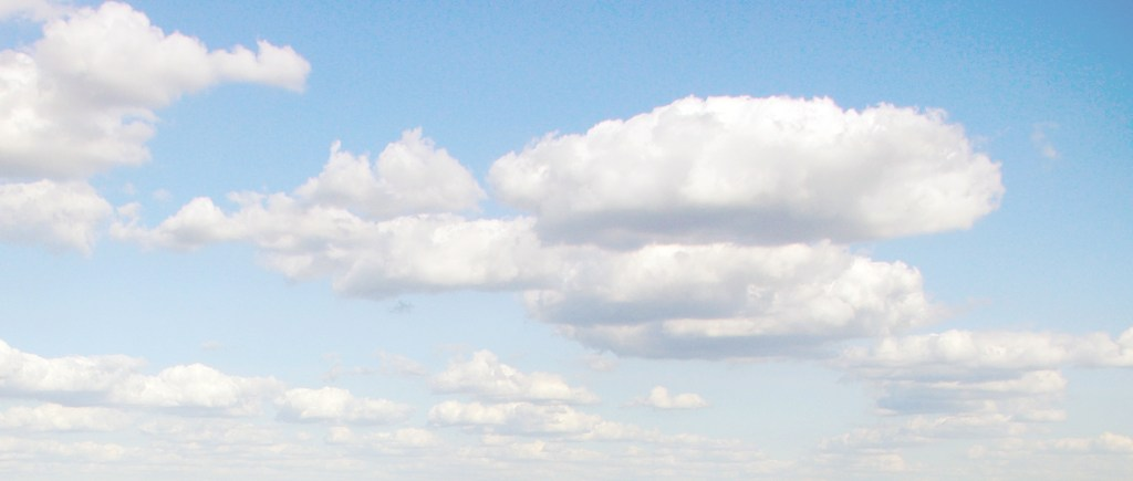 blue sky with clouds Photography by L.E. Paulson