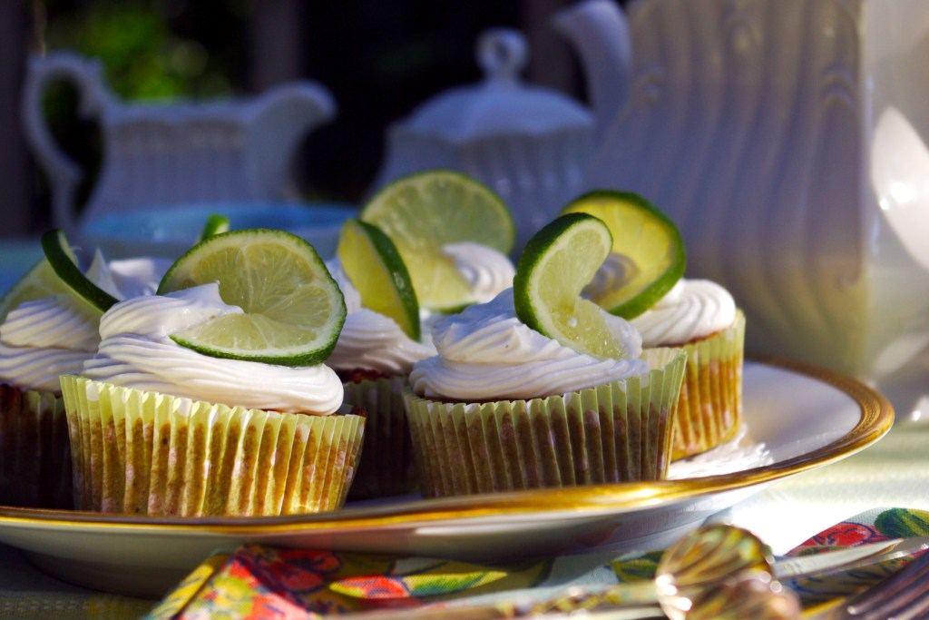 Coconut lime cupcakes with whipped coconut cream. Wheat and milk free recipe. Photography by L.E. Paulson