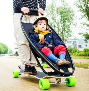 stroller bayi skateboard
