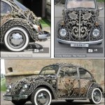 Mobil Pengantin Dengan Ornament Besi Ukir