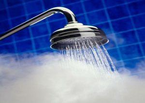 mandi air hangat