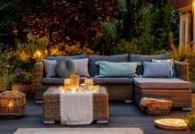 loungebank in de tuin