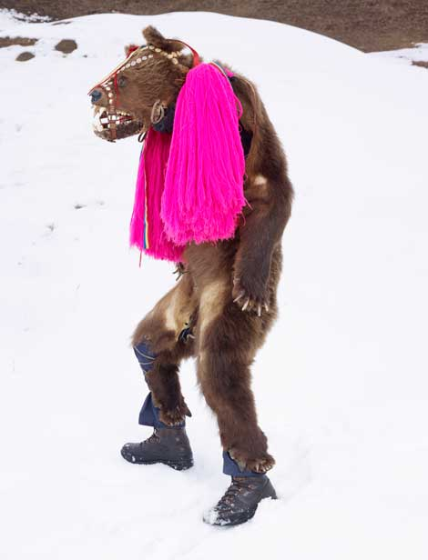 Charles Fréger, Ursul (Bear), Palanca, Romania, 2010-2011, © Charles Fréger, Courtesy Yossi Milo Gallery, New York