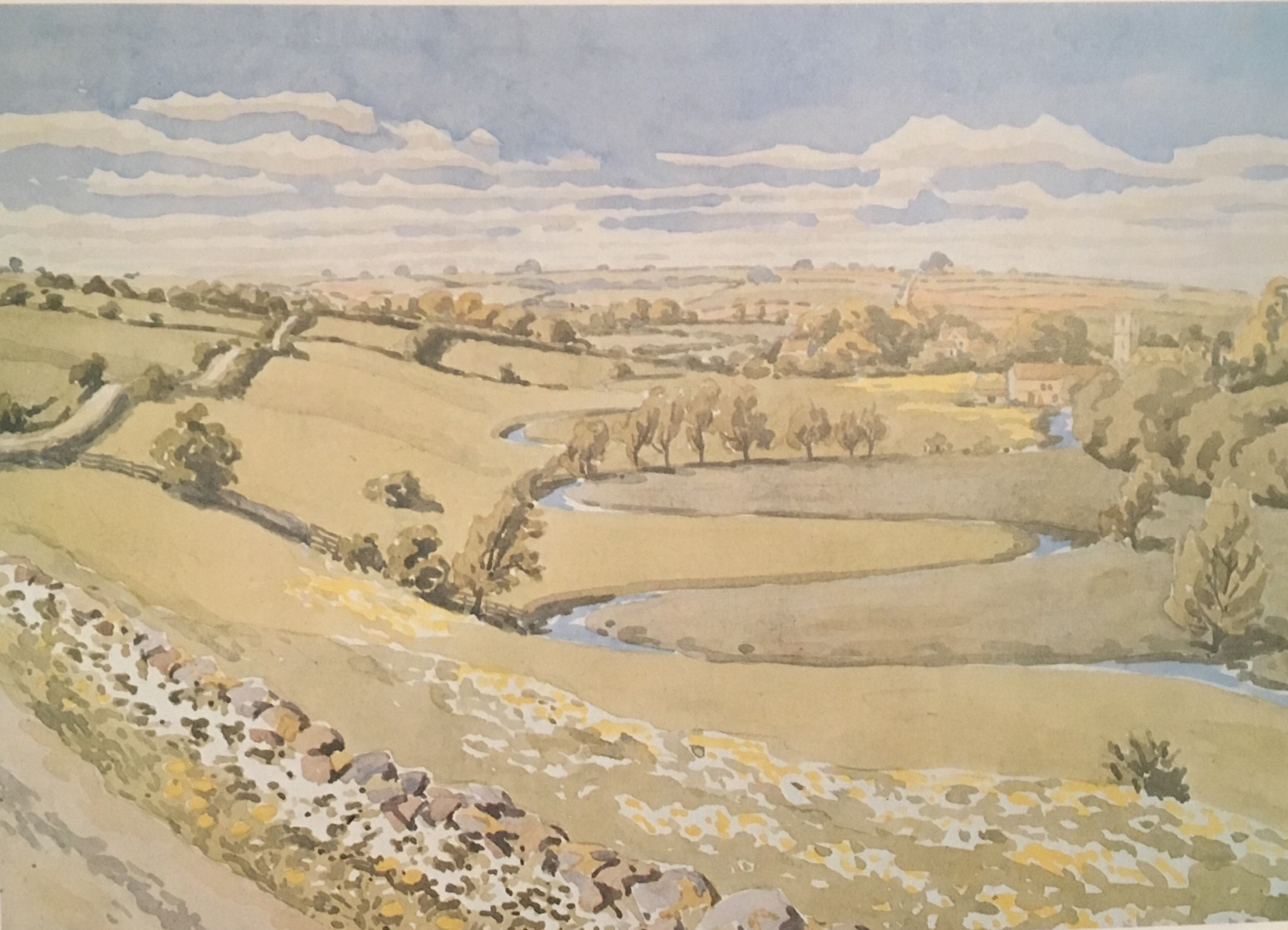The Windrush Valley by Sir Alister Hardy 1945