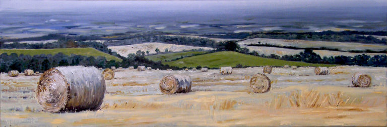 Straw Bales on Hills