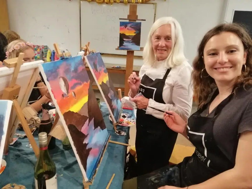 adult birthday party ideas wine and paint