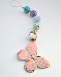 Enameled Brass Butterfly