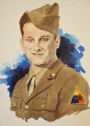 Resident portrait as a young soldier