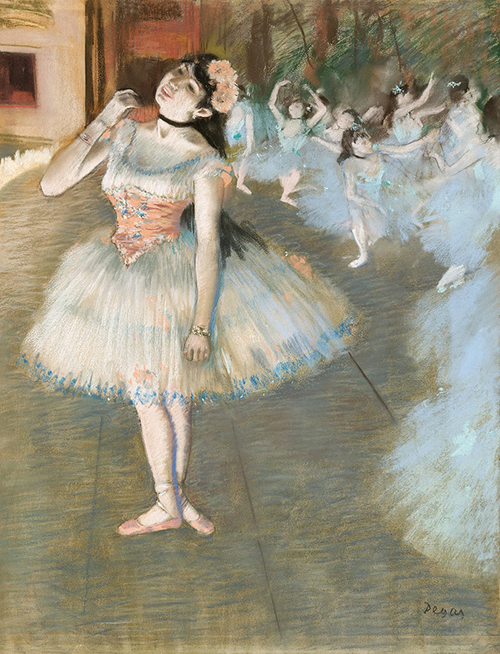 Painting of Ballet Dancer by Degas