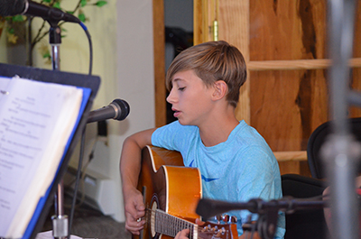 Singing and playing