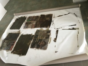 Using the Reykjavík Grapevine to create color washed paper