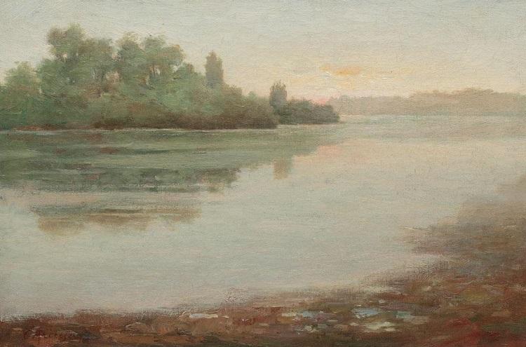 Constantin_Aricescu_dimineata_pe_malul_lacului