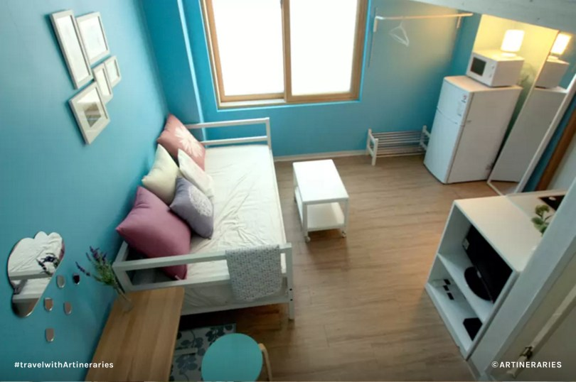 The place is compact but has enough room for 3 persons. For a group of 4, the place might be a bit cramped. / Photo from Airbnb
