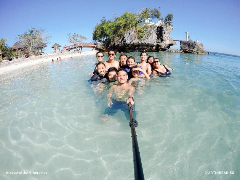 The group at Salagdoong Beach right after cliff diving / Photo by Jay Belamide