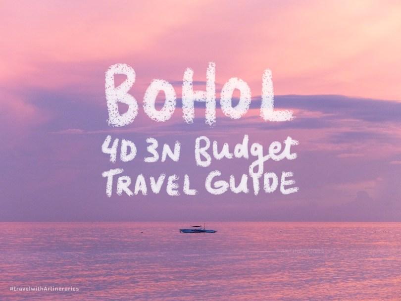 Artineraries - Bohol 4D 3N Budget Travel Guide