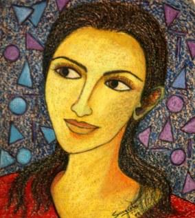 Sangeeta K Murthy Dreams-1 12x12 Inch Mixed Media on Paper