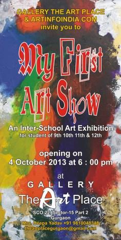 2013 E-Invite My First Art Show 2013