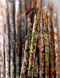 Amita Bamboos Series Acrylic on Canvas 30 x 40 Inches 30K