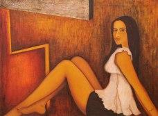 Sangeeta K Murthy Verve V Oil on Canvas 36 x 48 Inches