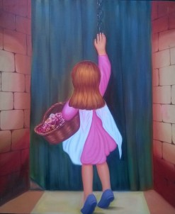 Santosh Kaalia Beti Oil on Canvas 40x30 Inches 15K
