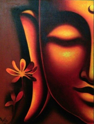 Sheena Jain Enlightened Oil on Canvas 20x16 Inches 10K