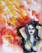 Pankaj Kumar Saxena Delusion-a paranoid delusion! Acrylic on Canvas 40X50 cms
