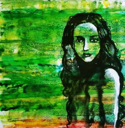 Pankaj Kumar Saxena Passion Acrylic on Canvas 60X60 cms