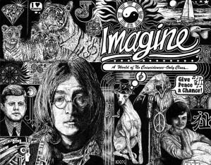 detailed drawing of John Lennon