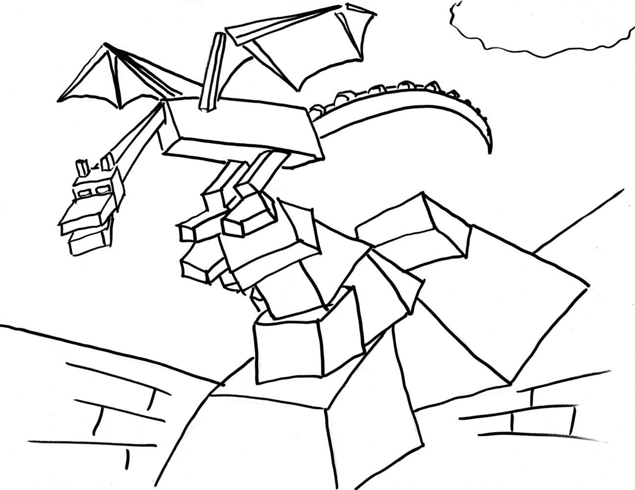 Ender Dragon Coloring Sheet Minecraft Coloring Pages Novocom Top