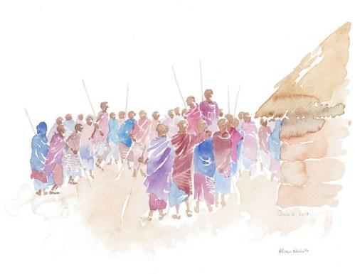 Celebration Field Sketch © Alison Nicholls 2014