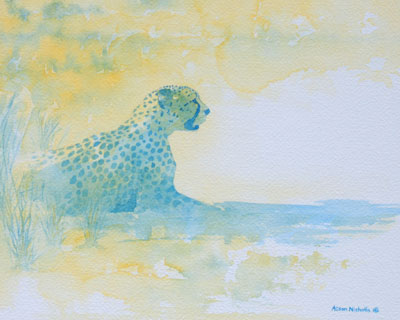 "Towards Evening, watercolor on paper 8x10"" by Alison Nicholls"