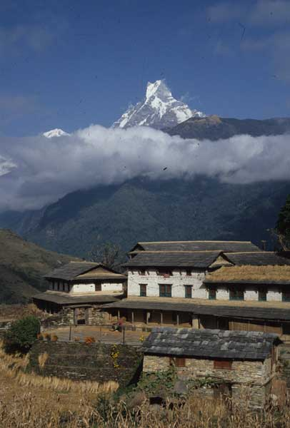 Mount Machapuchare, Nepal. Photo by Alison & Nigel Nicholls