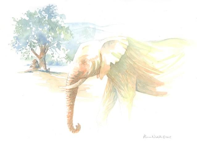 Elephant Bull by Alison Nicholls