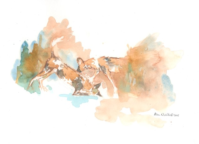 Playtime Field Sketch, watercolor by Alison Nicholls