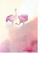 2 ostriches by Alison Nicholls