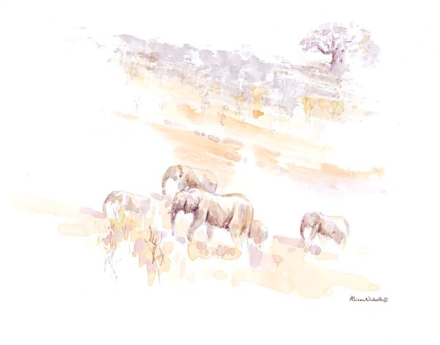 Elephants on the Move by Alison Nicholls