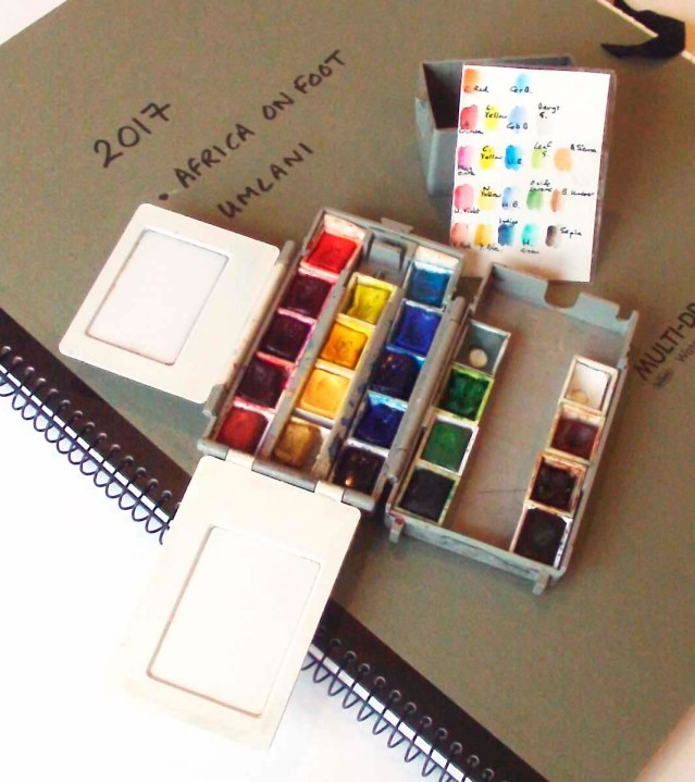 Alison Nicholls' watercolor field kit