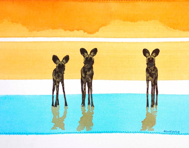 Boraro, painted dogs by Alison Nicholls
