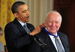 President Barack Obama awards medal of freedom to Jasper Johns