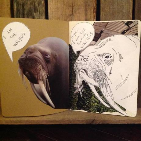 'i am the walrus' art journal