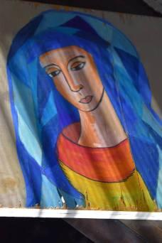'image of mary' pastel on wood $35