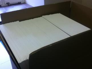 The foam boards await....