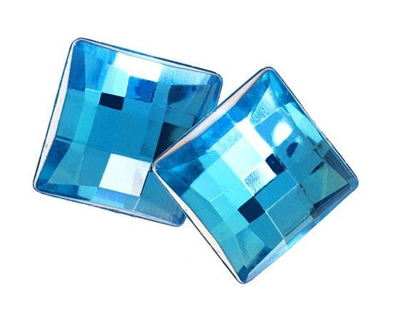 SQUARE FACET AQUA 12 MM