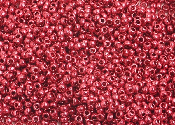 SEEDBEAD METALLIC RED 10/0