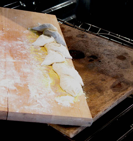 Pain d'Epi (Wheat Stalk Bread) Dough going into the oven | Artisan Bread in 5 Minutes a Day