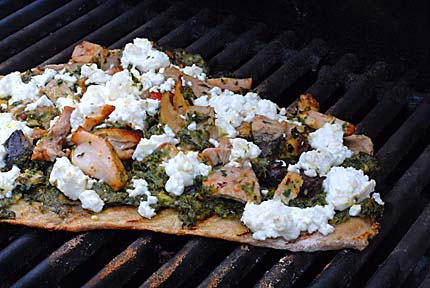 grilled-bitter-green-flatbread