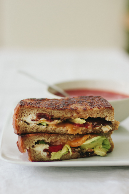 Grilled Sandwiches: Cheese, Tomato, Bacon and Avocado | Artisan Bread in Five Minutes a Day