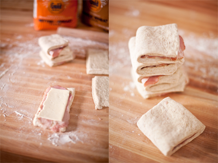 Ham and Cheese Pull-Apart Bread Before Baking | Artisan Bread in Five Minutes a Day